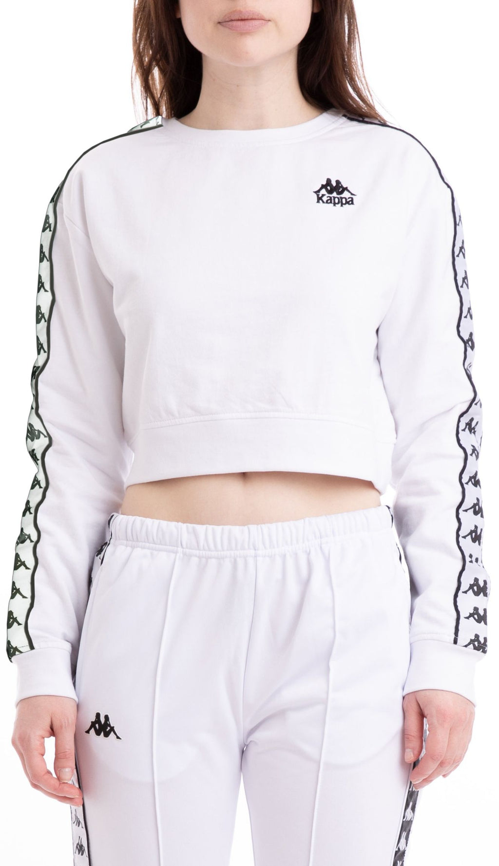 Kappa AYS Cropped Sweatshirt White