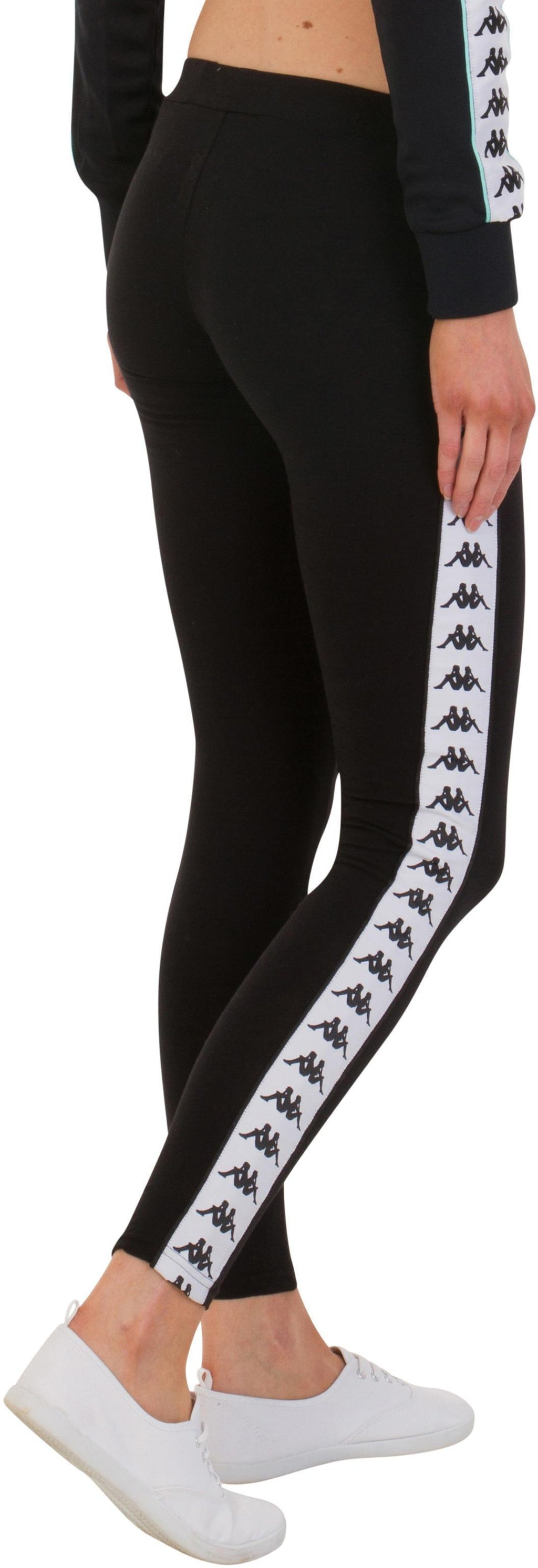 Kappa Anen Leggings Black/White