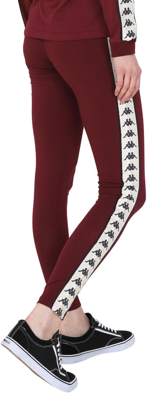 Kappa Anen Leggings Burgundy