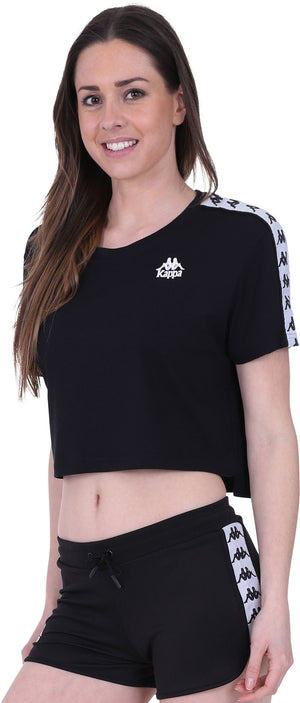 Kappa Apua Cropped T-Shirt Black