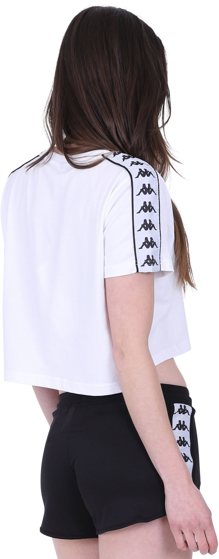 Kappa Apua Cropped T-Shirt White