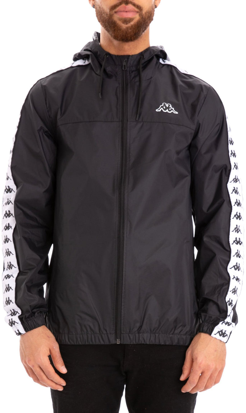 Kappa Dawson Hooded Jacket Black