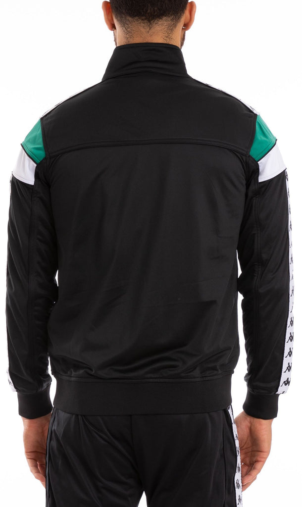 Kappa Merez Zip Front Track Top Black