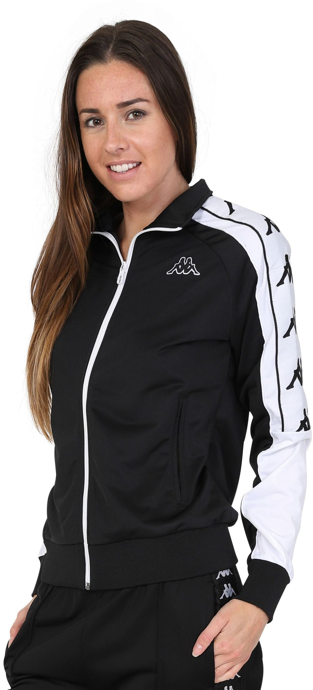 Kappa Women's Anay Zip Front Track Top Black