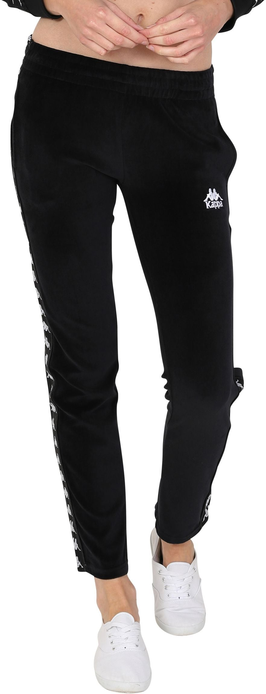 Kappa Women's Melody Velour Jogger Bottoms Black