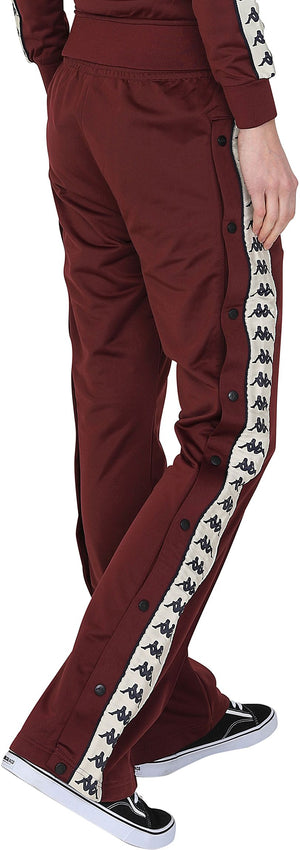 Kappa Women's Wastoria Track Pants Jogger Bottoms Red