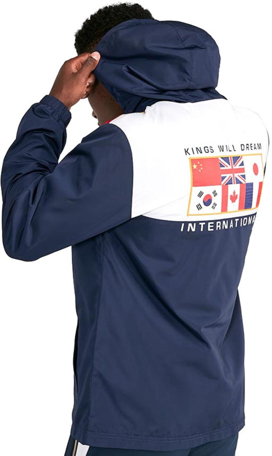 Kings Will Dream Crespo Flag 1/4 Zip Popover Jacket