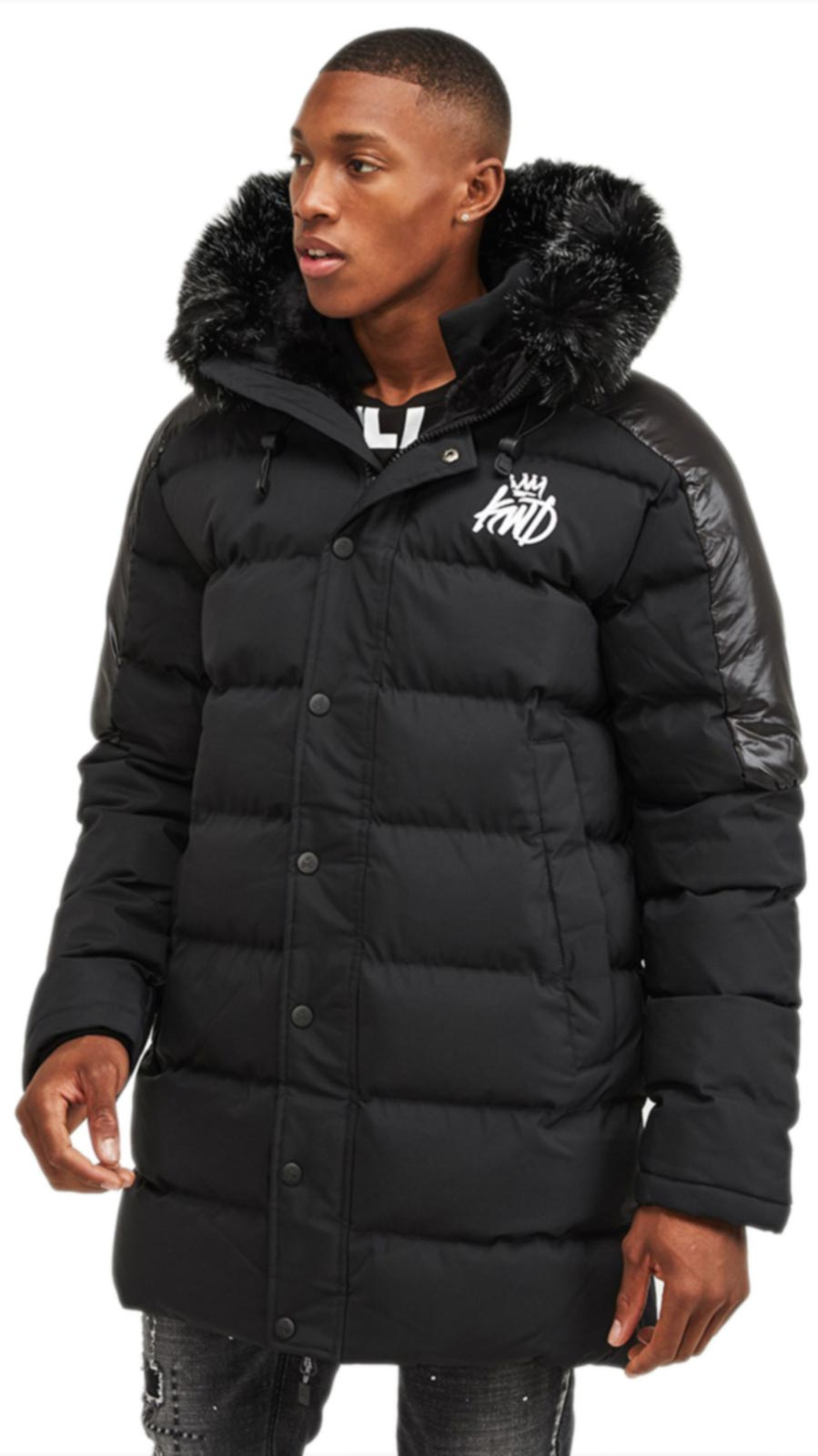 Kings Will Dream Hunton Padded Parka Jacket Black