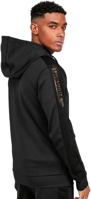Kings Will Dream Mlorton Poly Mesh Zip Front Hoodie Black