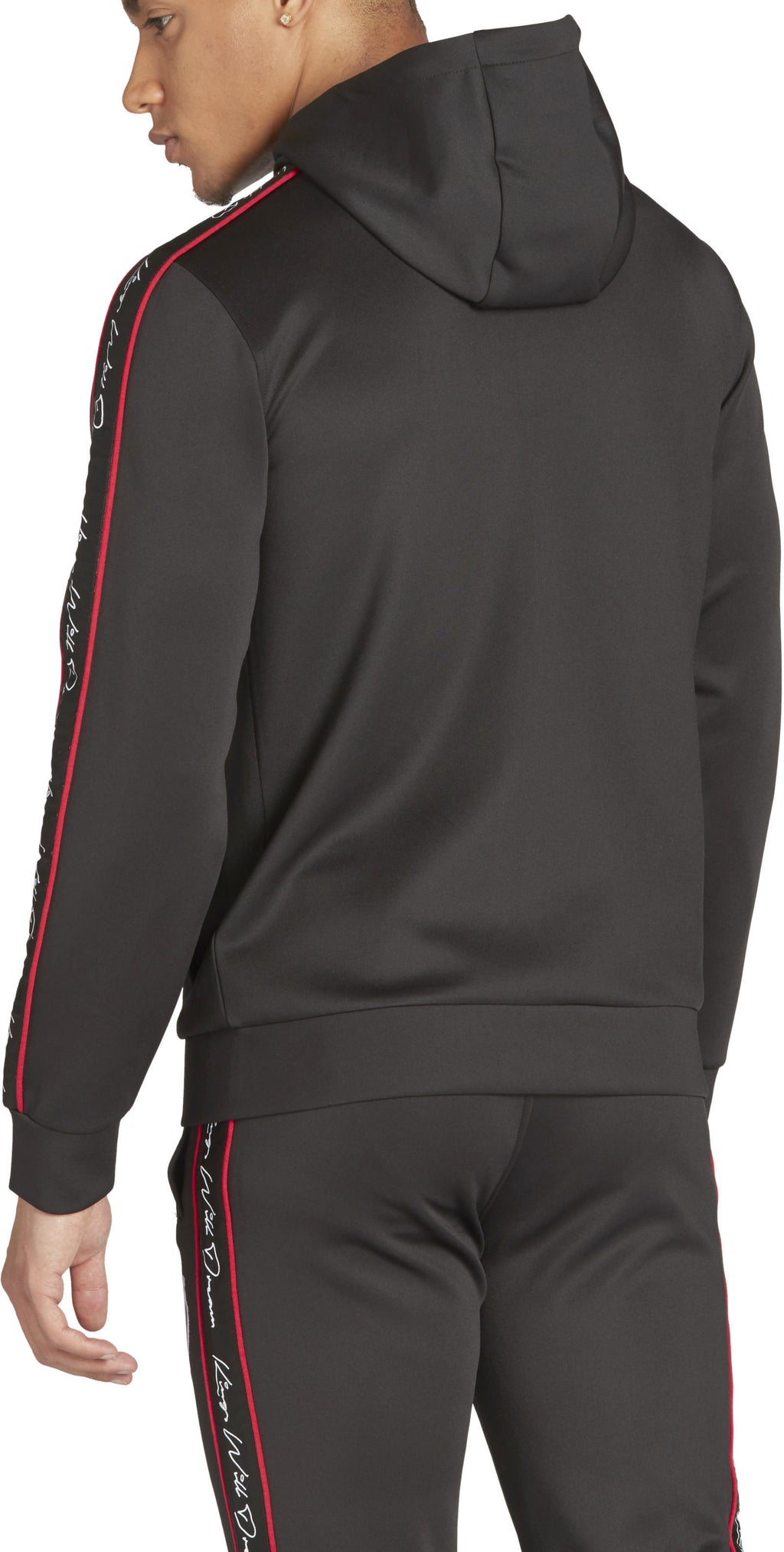 Kings Will Dream Roxberry Tape Zip Front Poly Hoodie Black/Red
