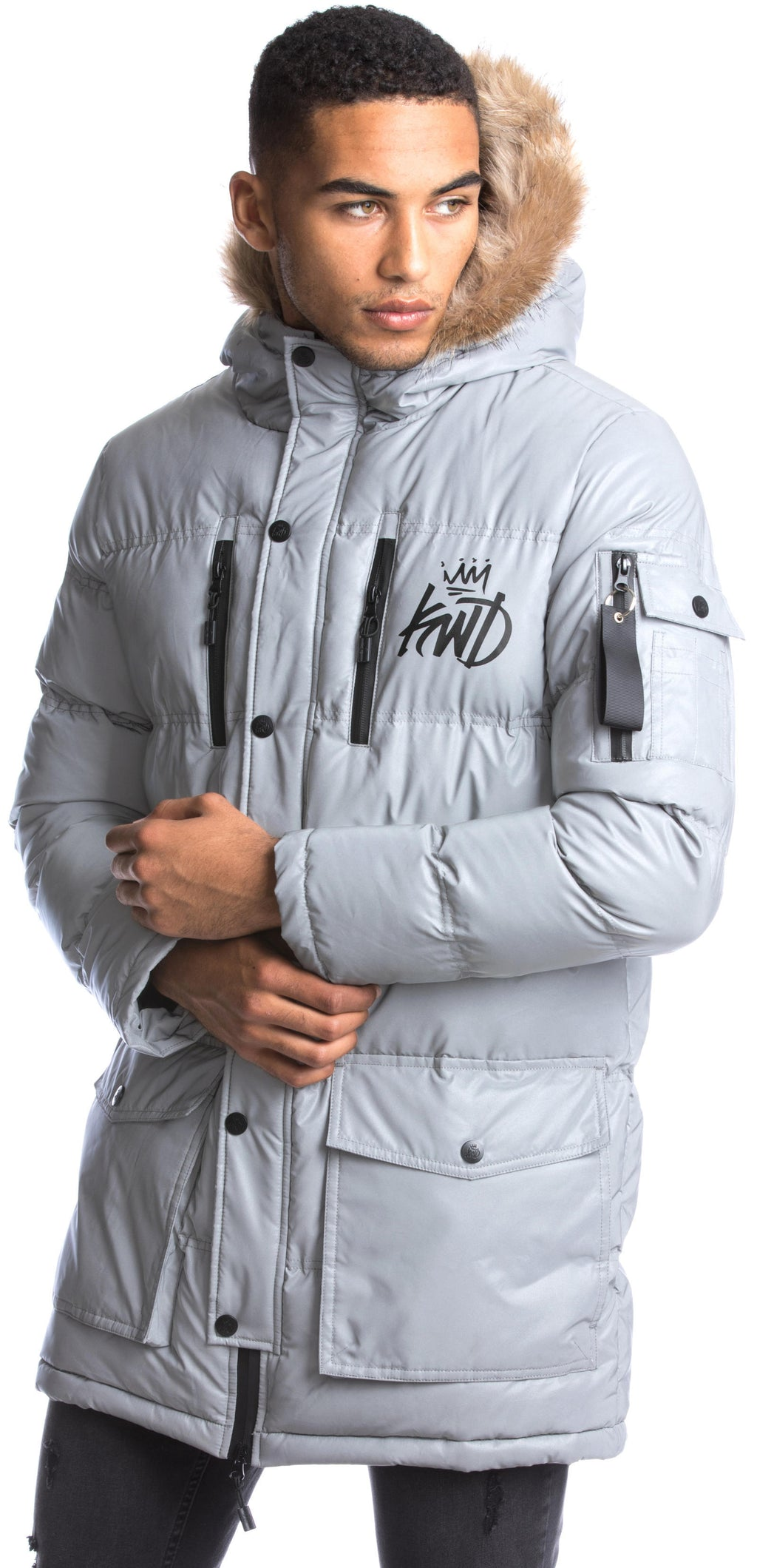 Kings Will Dream Roxley Reflective Puffer Coat