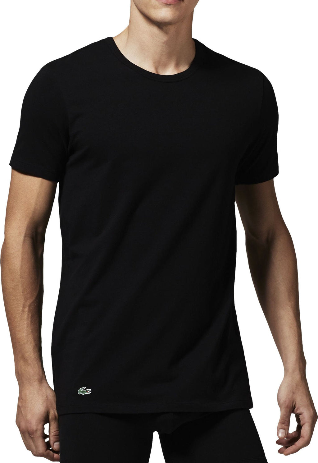 Lacoste 2 Pack Slim Fit T-Shirts Black