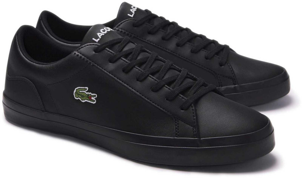 Lacoste Lerond 120 1 CMA Textured Leather Trainers Black