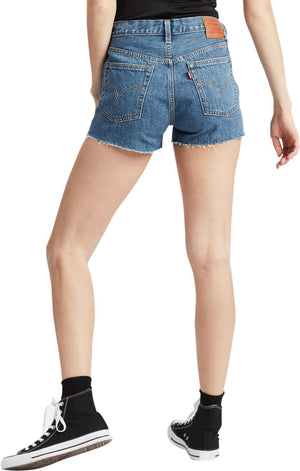 Levi's 501 Logo High Waisted Denim Shorts