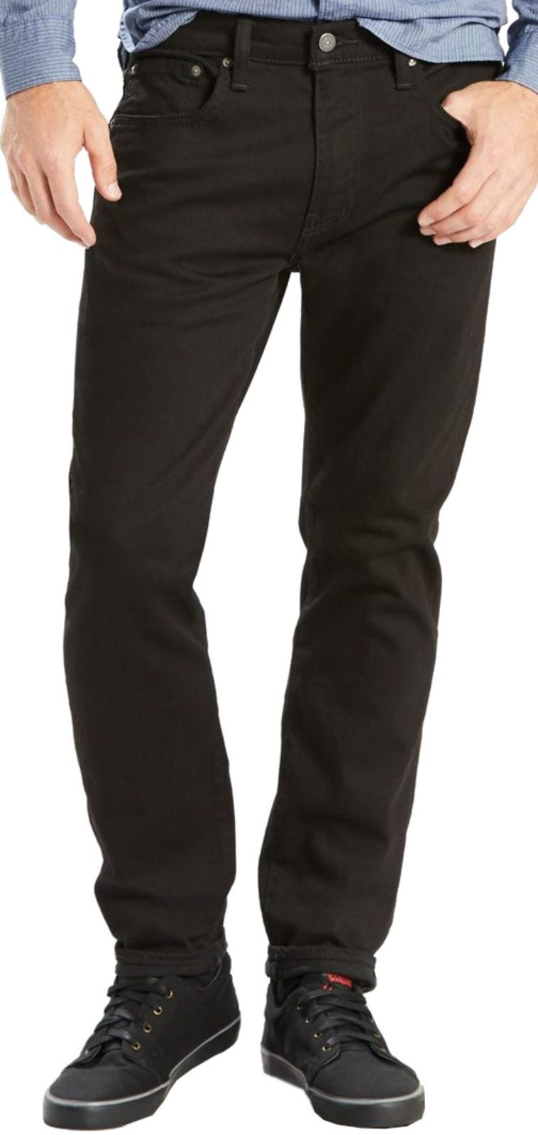 Levi's 502 Regular Taper Fit Denim Jeans Nightshine Black