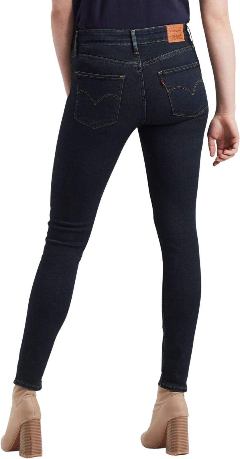 Levi's 721 High Rise Skinny Denim Jeans Navy