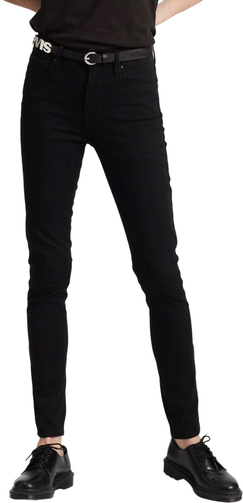 Levi's 721 High Rise Skinny Denim Jeans Black