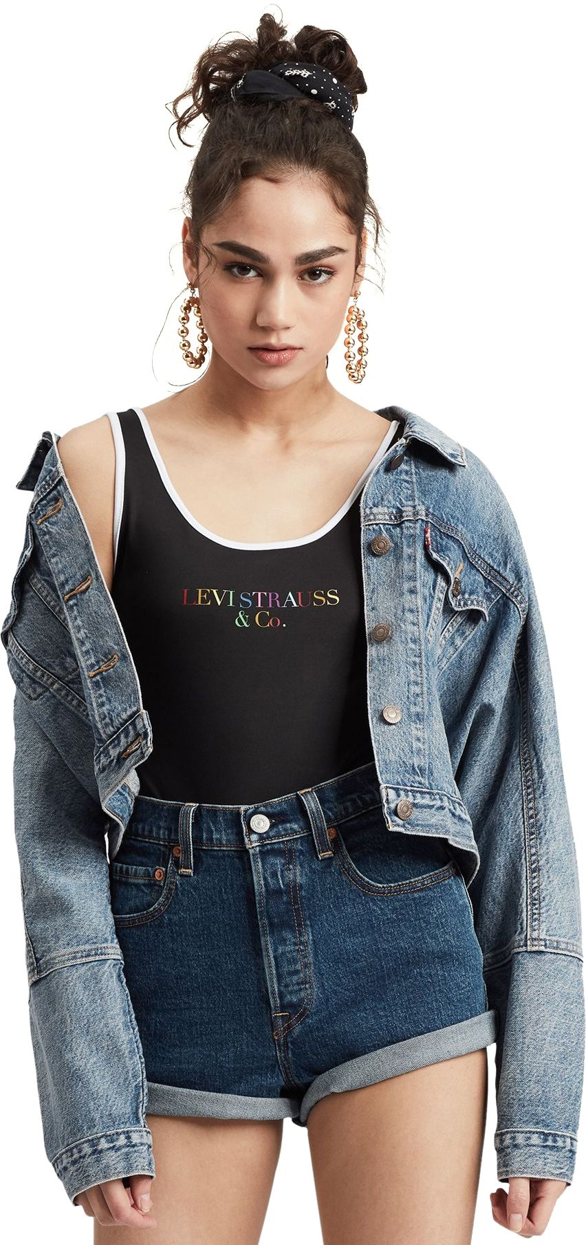 Levi's 90s Text Logo Bodysuit Black