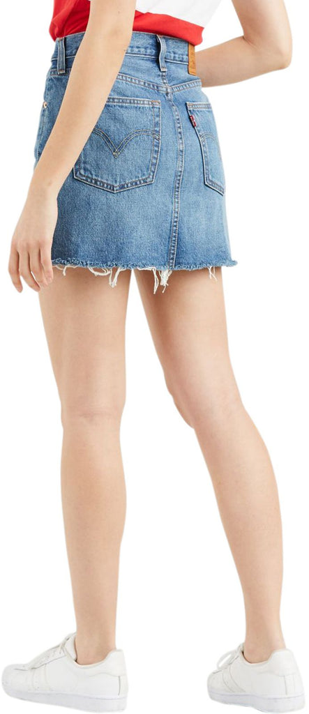 Levi's Deconstructed Denim Mini Skirt Blue