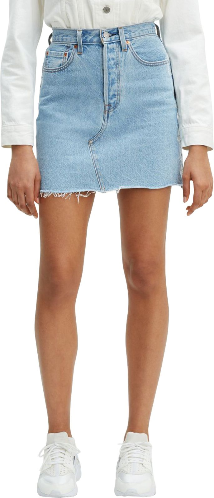 Levi's Deconstructed Denim Skirt Needlecraft Blue