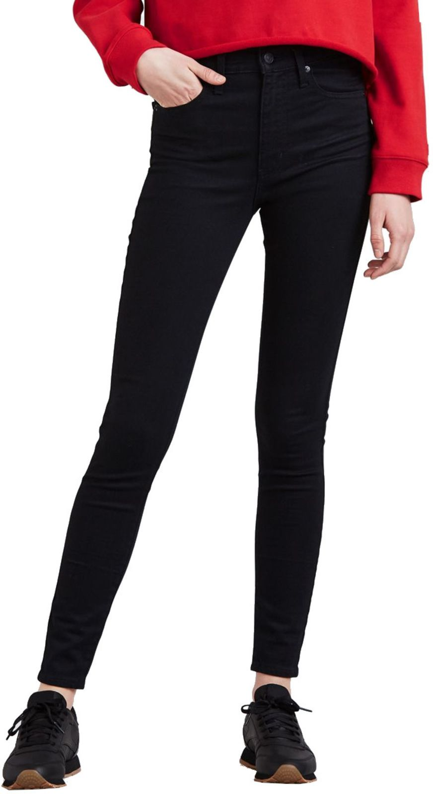 Levi's Mile High Super Skinny Denim Jeans Black