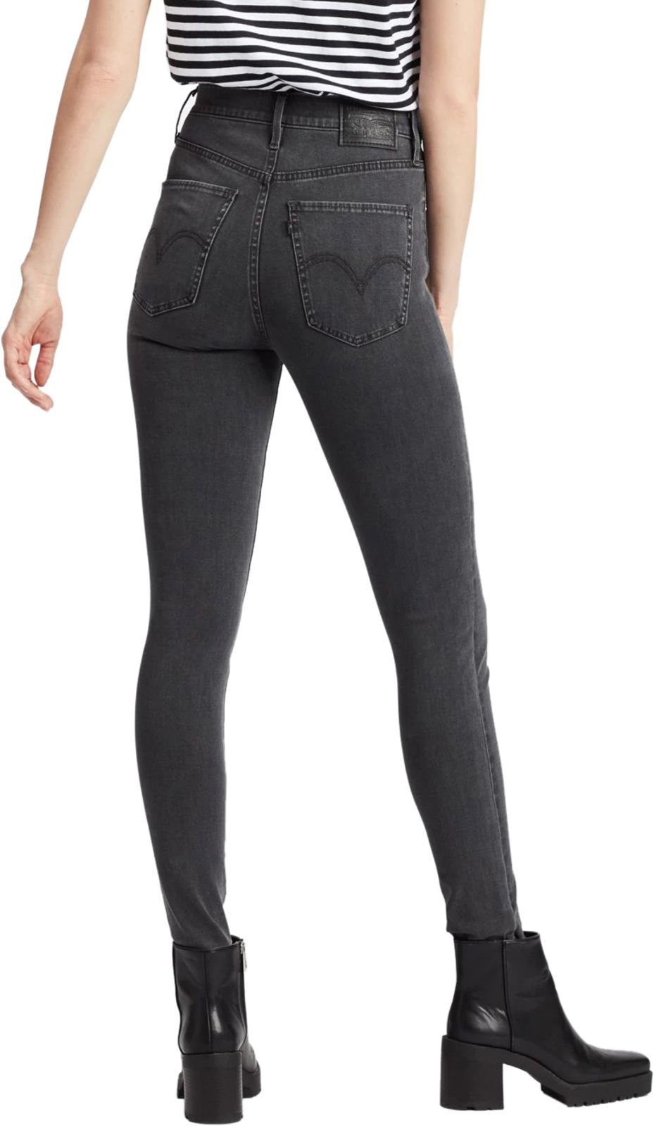Levi's Mile High Super Skinny Denim Jeans Charcoal