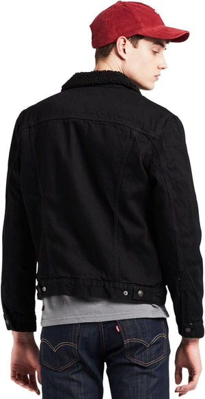 Levi's Original Sherpa Trucker Denim Jacket Black