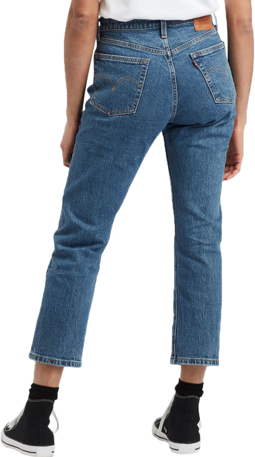 Levi's Women's 501 Original Crop Denim Jeans Jive Stonewash Blue