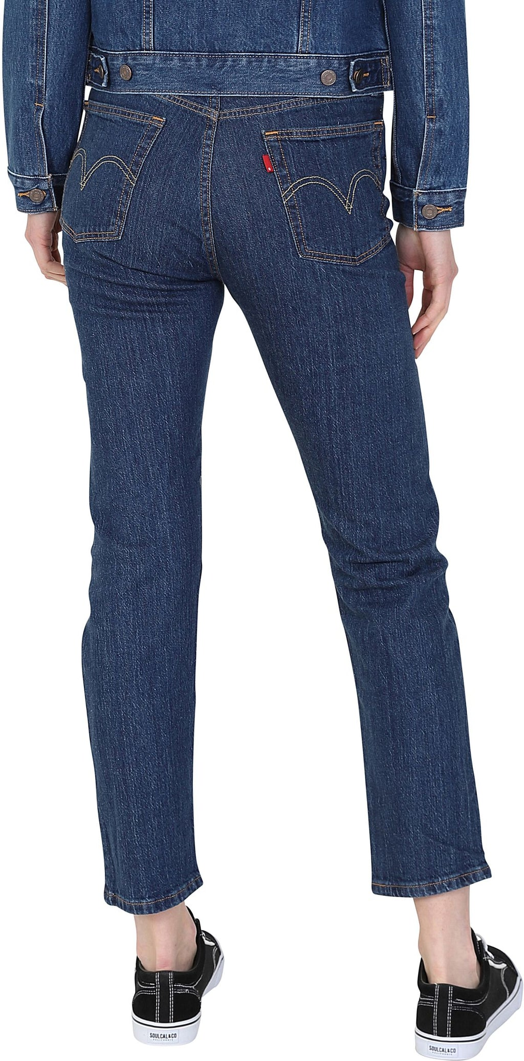 Levi's Women's 501 Original Crop Denim Jeans Blue