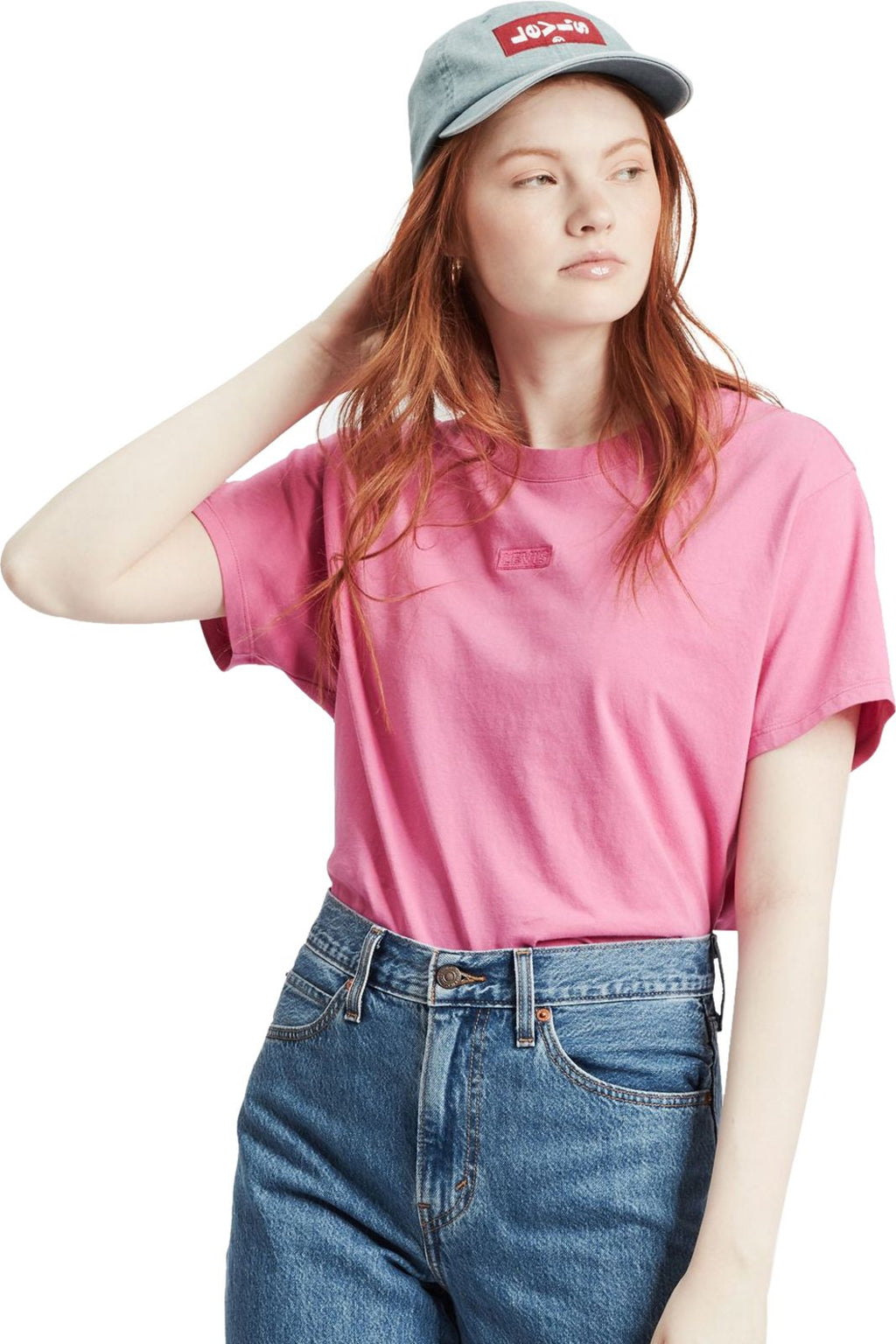 Levi's Women's Graphic Varsity T-Shirt Pink