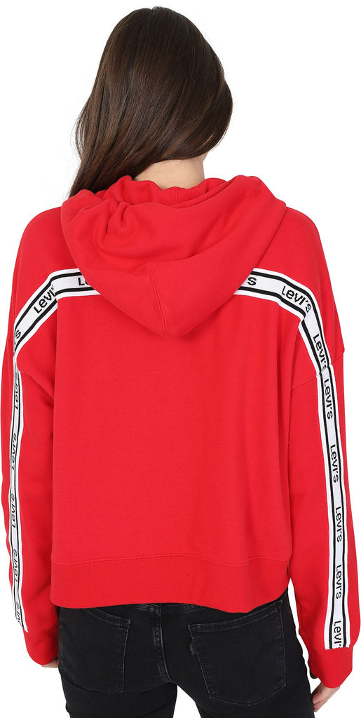 Levi's Women's Logo Trim Zip Front Hoodie Red