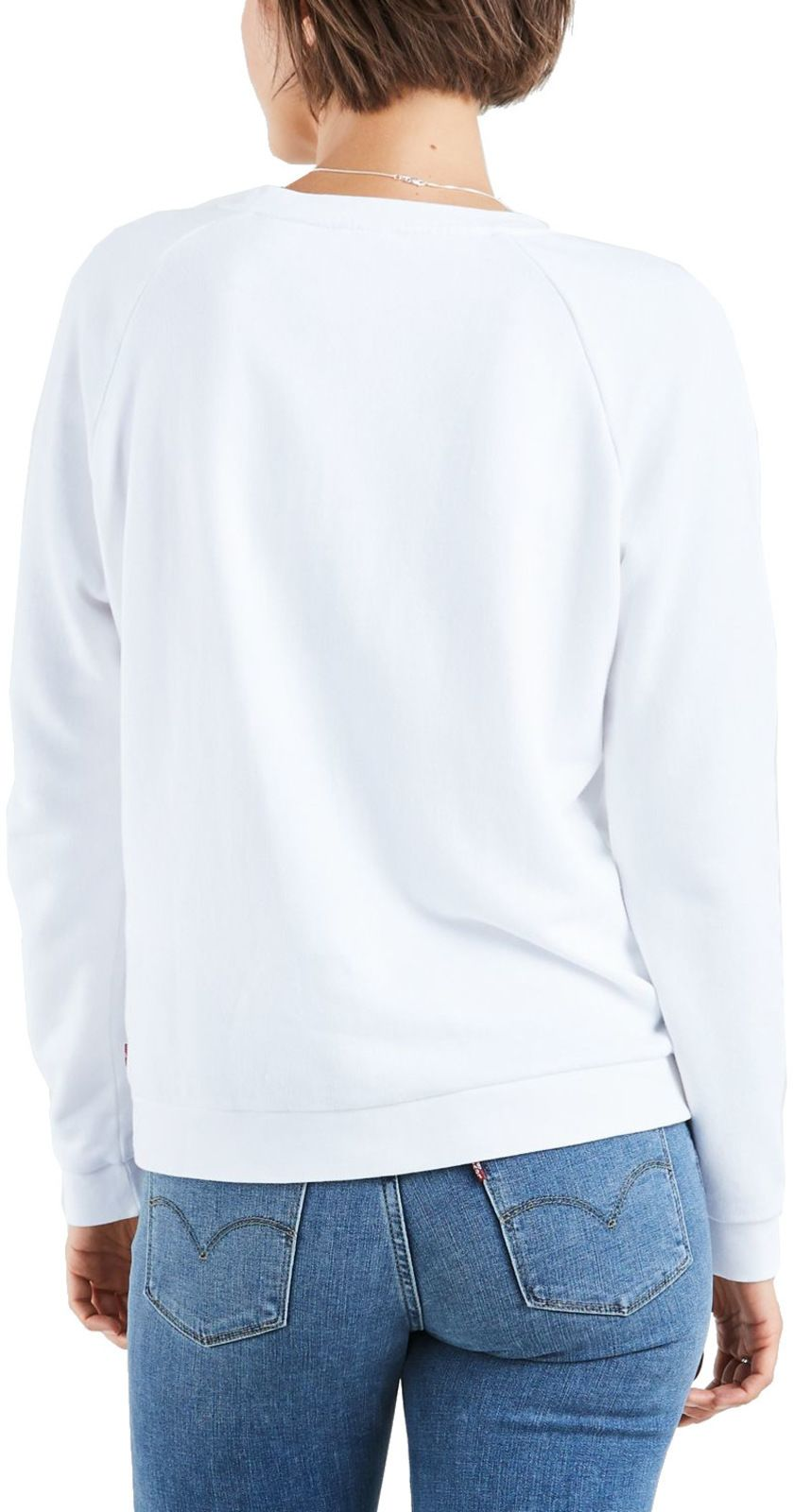 Levi's Women's Relaxed Graphic Sweatshirt White