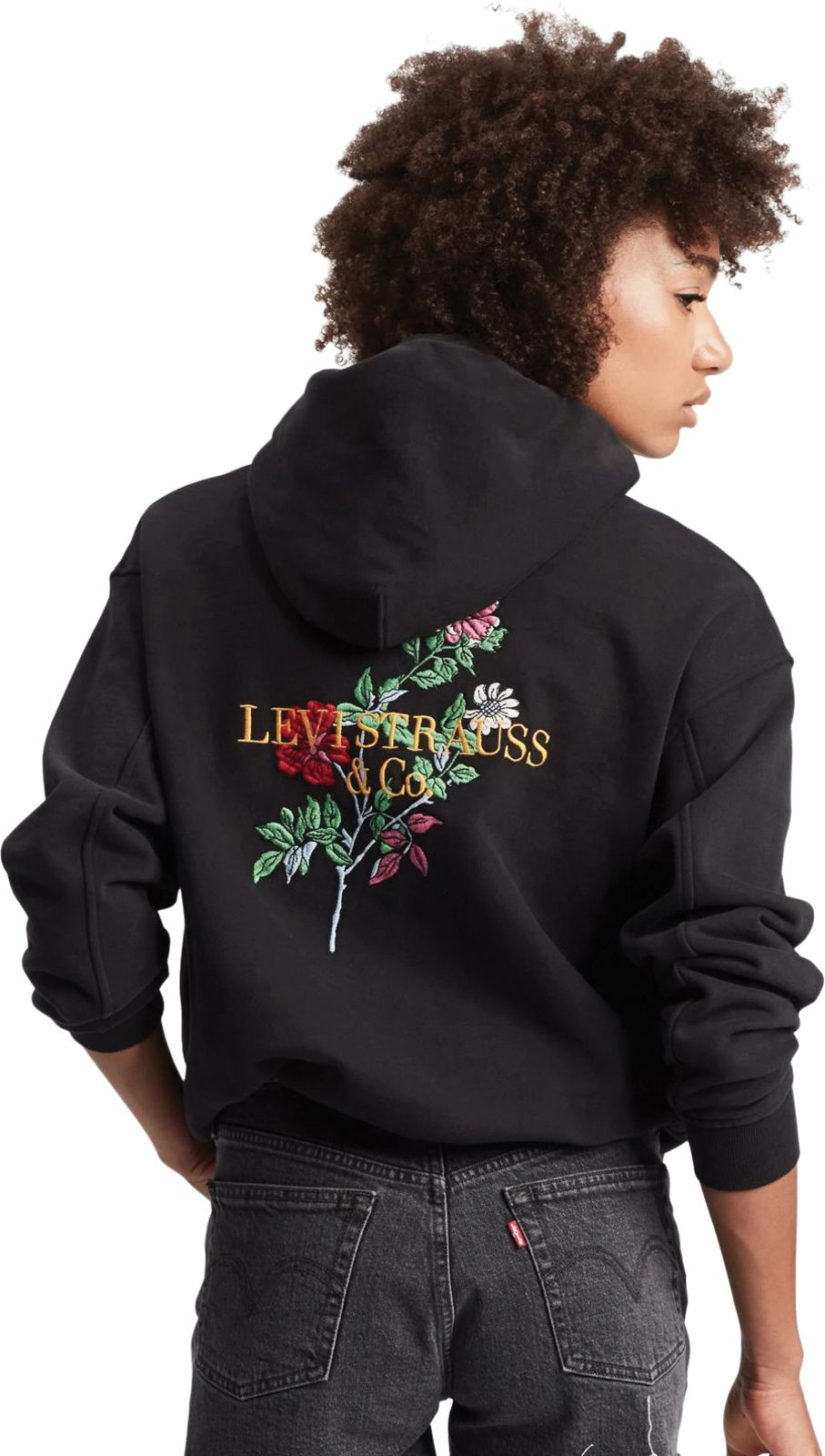 Levi's Unbasic 90s Floral Text Hoodie Black