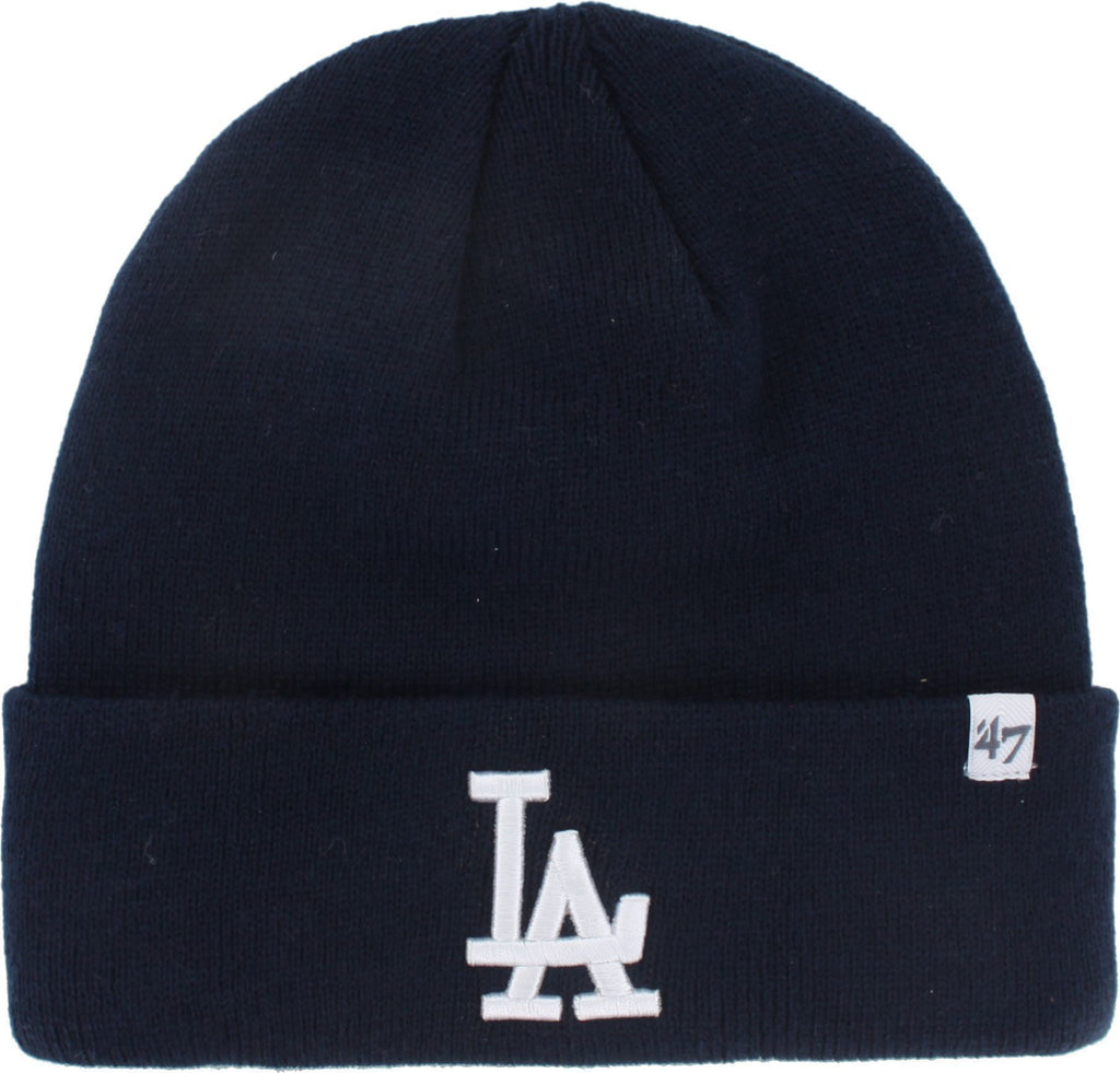 Los Angeles Dodgers '47 Raised Cuff Knit Beanie Hat Navy