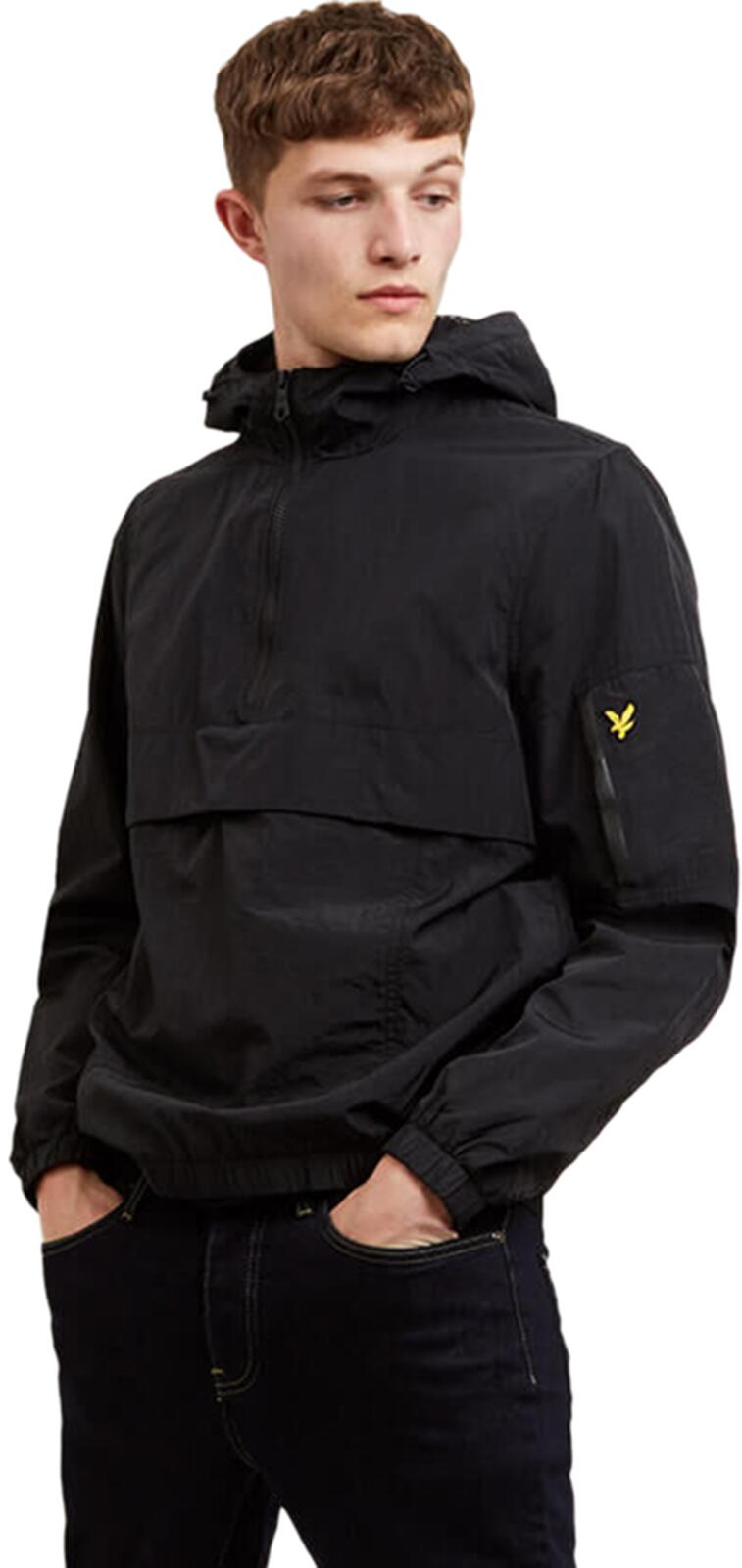 Lyle & Scott 1/4 Zip Popover Jacket	True Black