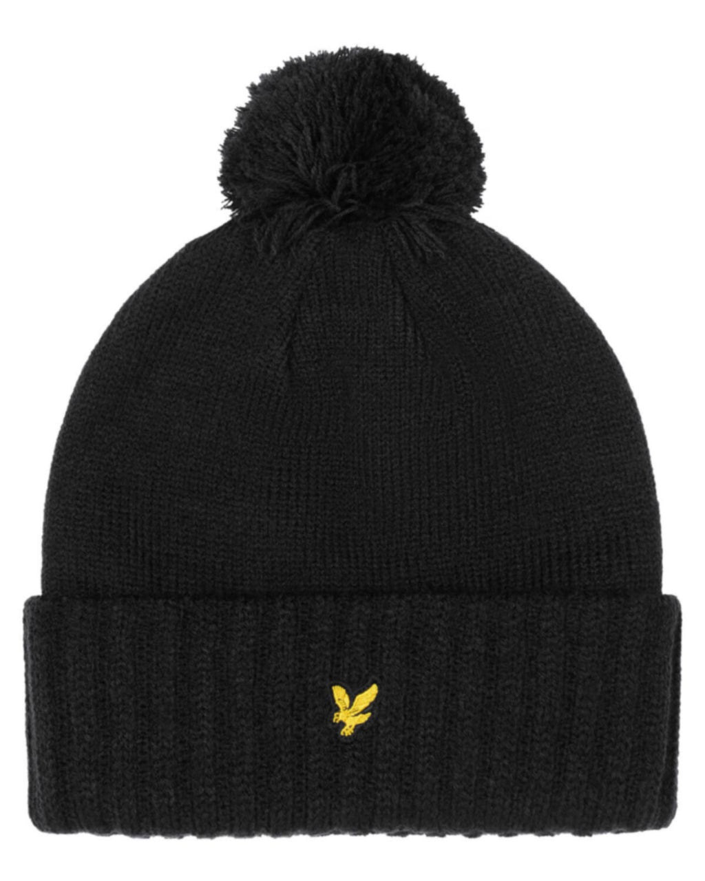 Lyle & Scott Bobble Beanie Hat	True Black