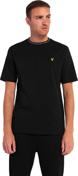 Lyle & Scott Branded Ringer T-Shirt Black
