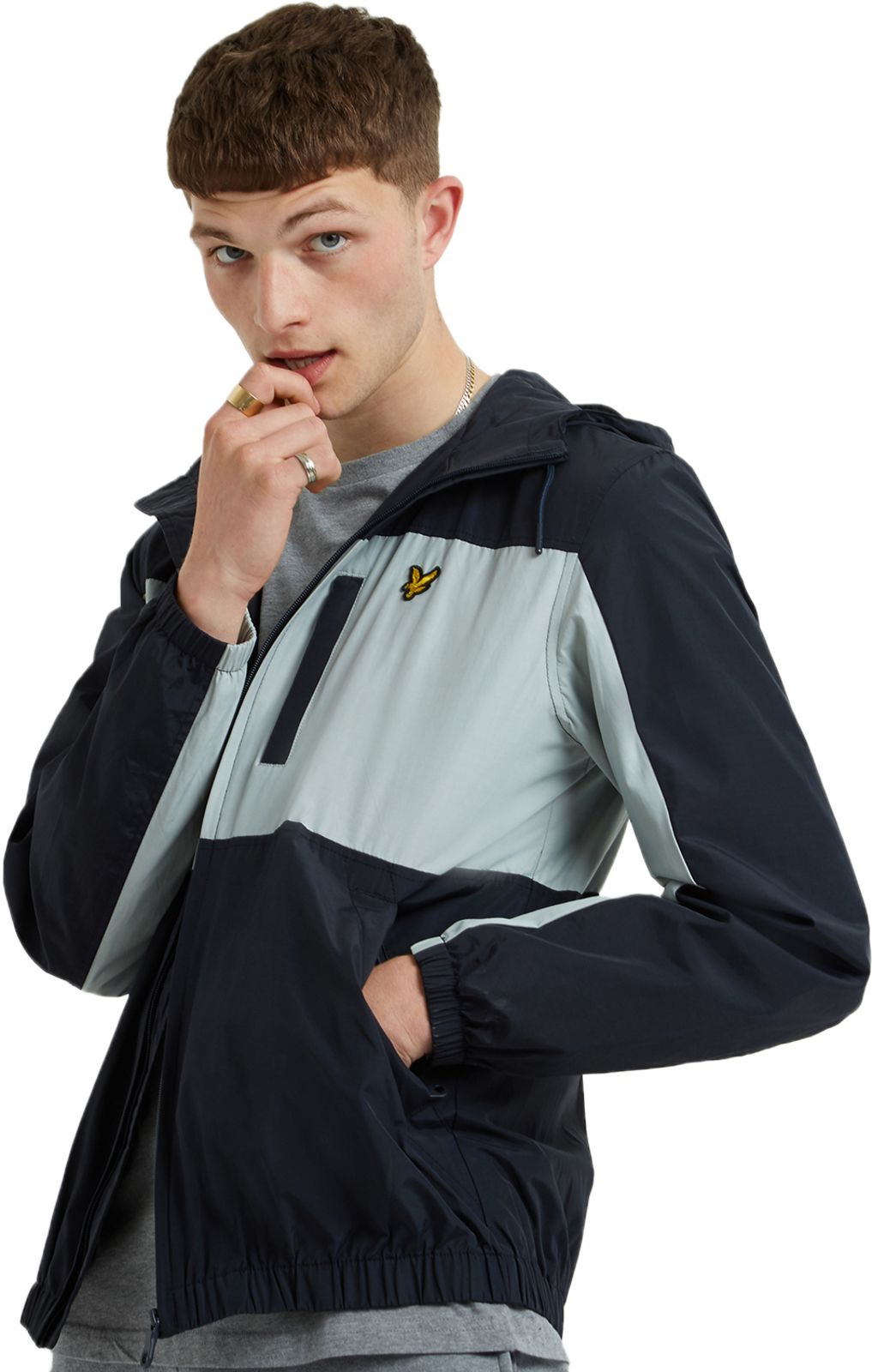 Lyle & Scott Colour Block Zip Front Jacket