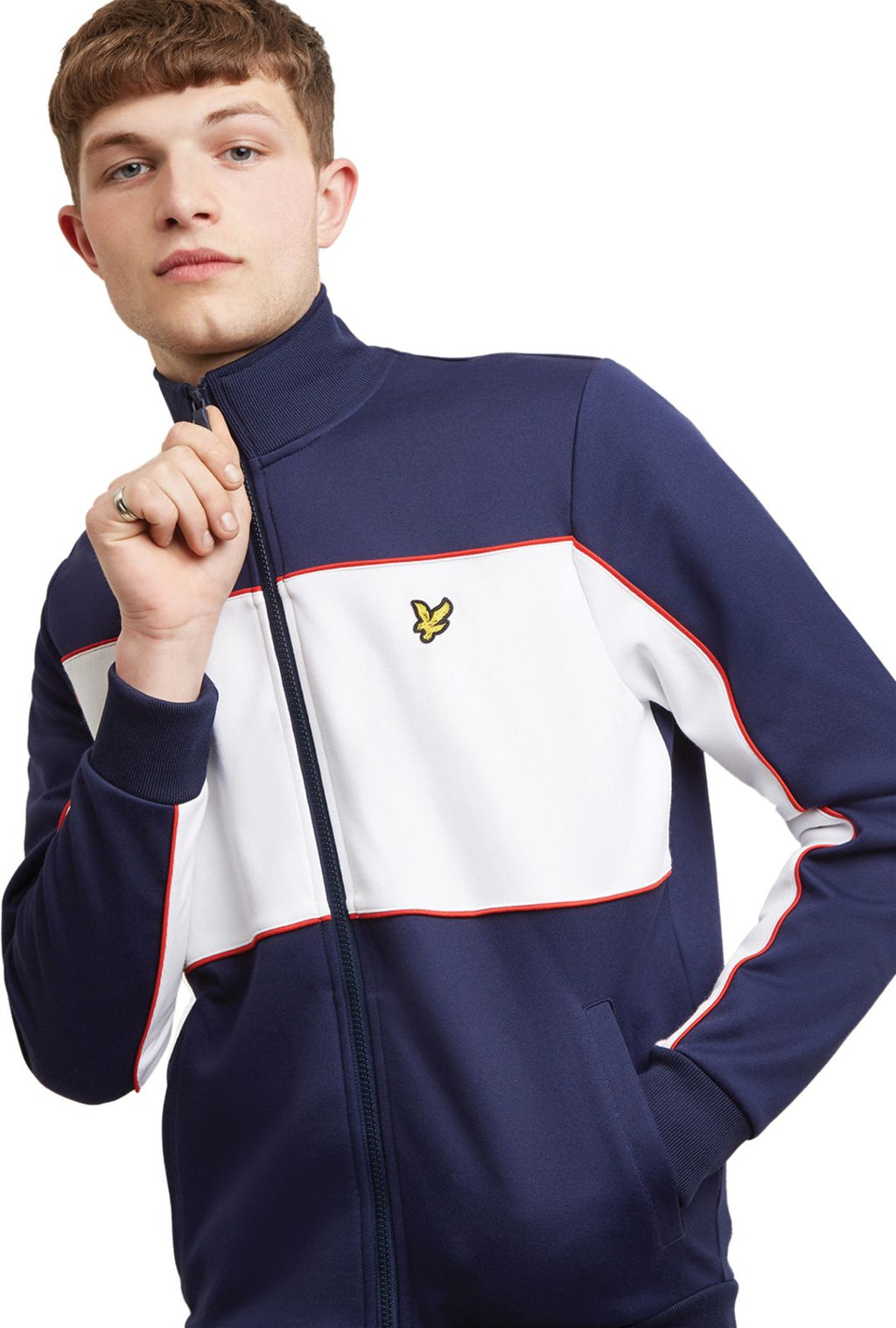 Lyle & Scott Colour Block Zip Front Track Top