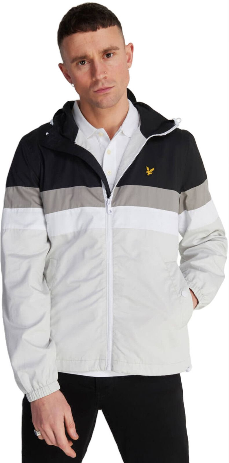 Lyle & Scott Contrast Yoke Jacket Black