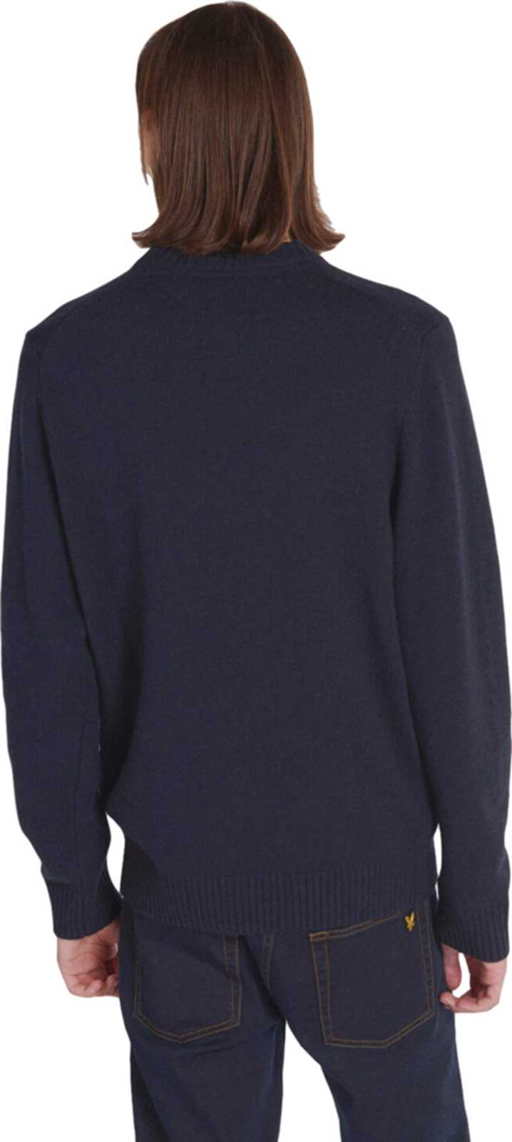 Lyle & Scott Flag Knitted Crew Neck Jumper Navy