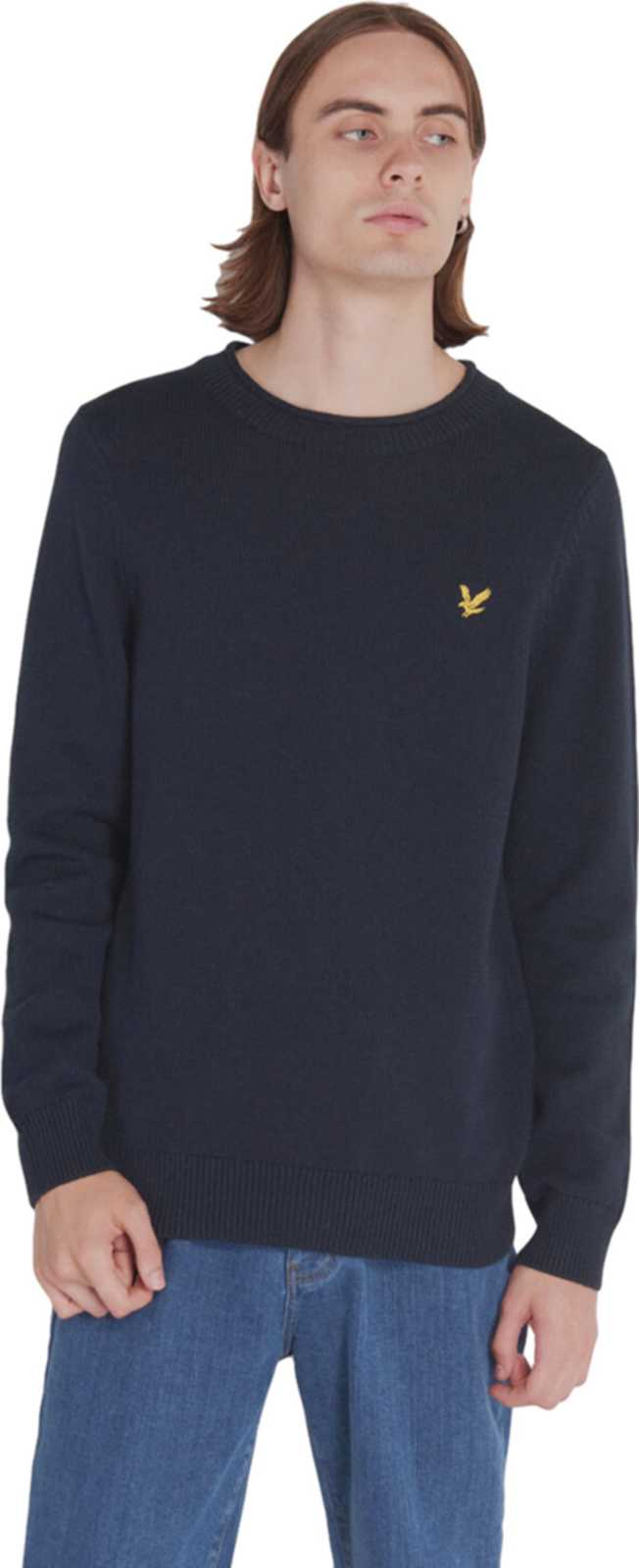 Lyle & Scott Funnel Roll Top Knitted Jumper Navy