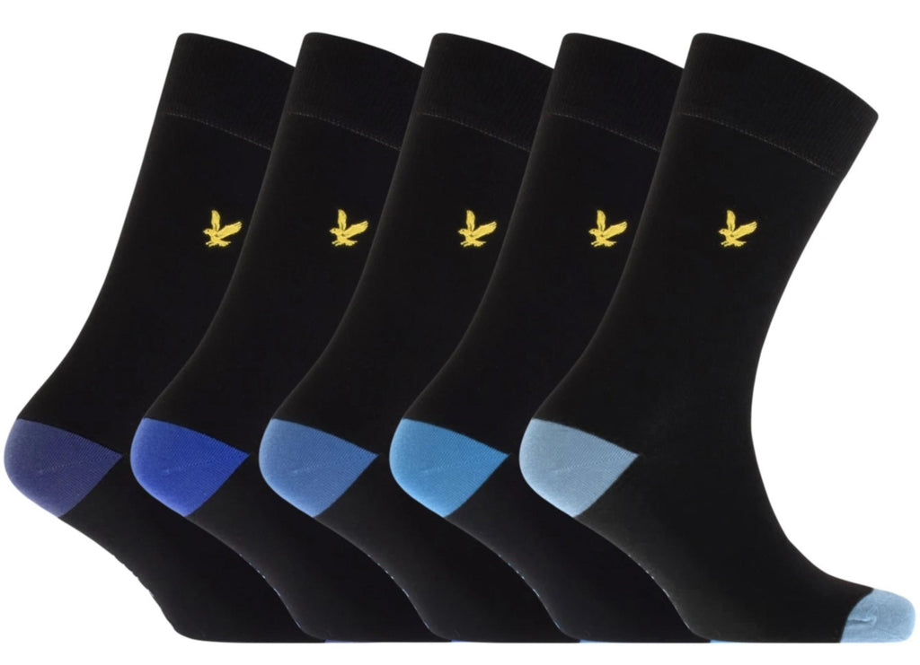 Lyle & Scott Graham 5 Pack Socks Black