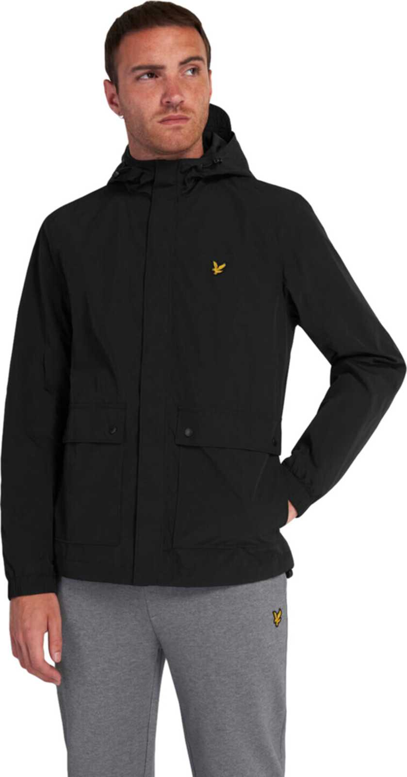 Lyle & Scott Hooded Pocket Jacket Black
