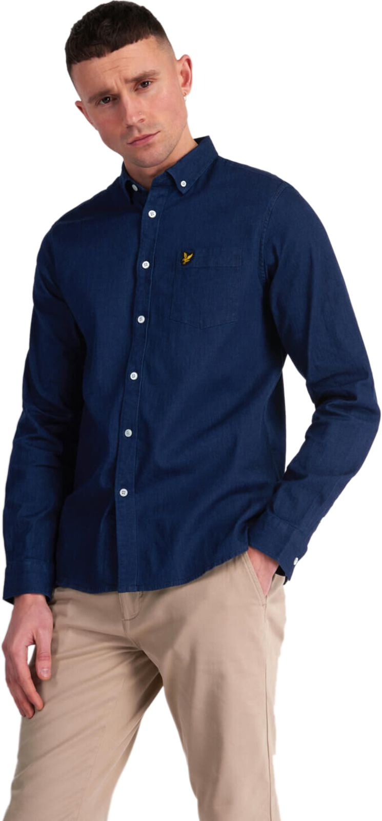 Lyle & Scott Indigo Long Sleeve Shirt Blue