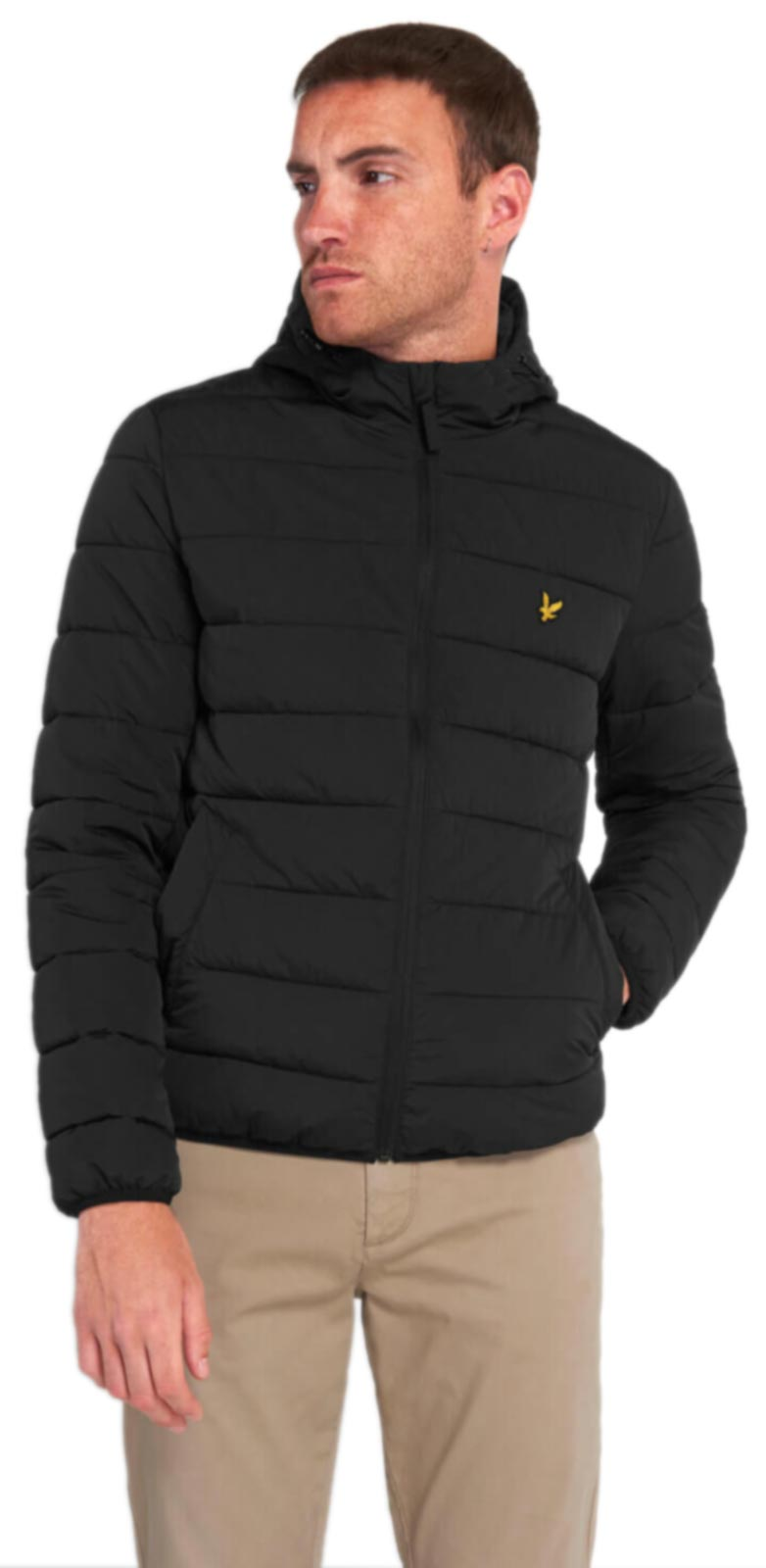 Lyle & Scott Lightweight Puffa Jacket Black