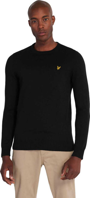 Lyle & Scott Merino Cotton Knit Jumper Black