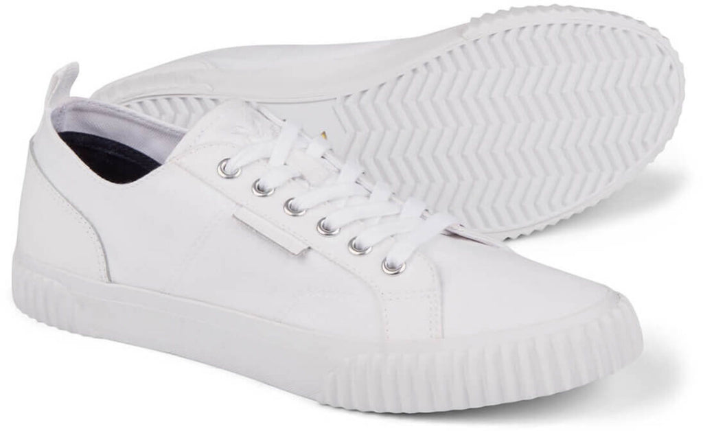 Lyle & Scott Mitchell Canvas Trainers White