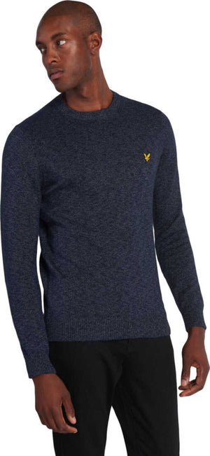 Lyle & Scott Mottled Jumper Navy