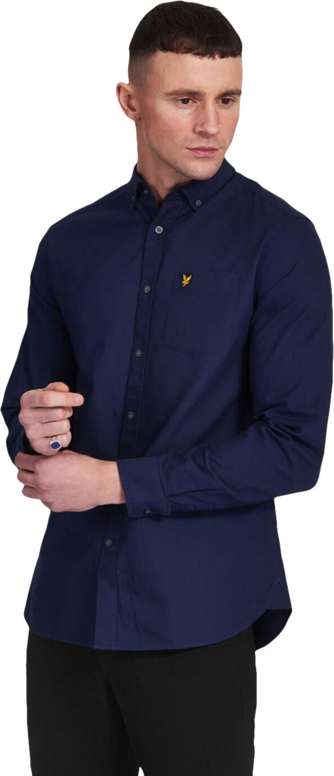 Lyle & Scott Oxford Long Sleeve Shirt Navy